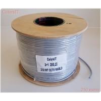ColorsIT 250m 2+1 CCTV Kablo (2x0.22 - %99 Bakır)