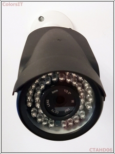 ColorsIT CTAHD06-B2042B 2.0MP, 1080P/960P, 42 LED, 3.6mm Bullet AHD Güvenlik Kamerası - Metal